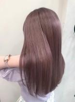 ナチュラルピンクブラウン(髪型ロング)