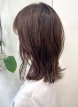 ミディアム×ナチュラルレイヤー(髪型ミディアム)