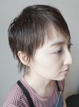 50代大人ベリーショートレディースウルフ(髪型ベリーショート)