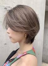 大人小顔ショート/ミルクティーベージュ(髪型ショートヘア)
