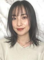 髪質改善相性◎大人のミディアムレイヤー(髪型ミディアム)