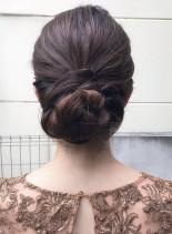 結婚式やお呼ばれ用大人シニヨンアレンジ(髪型ロング)