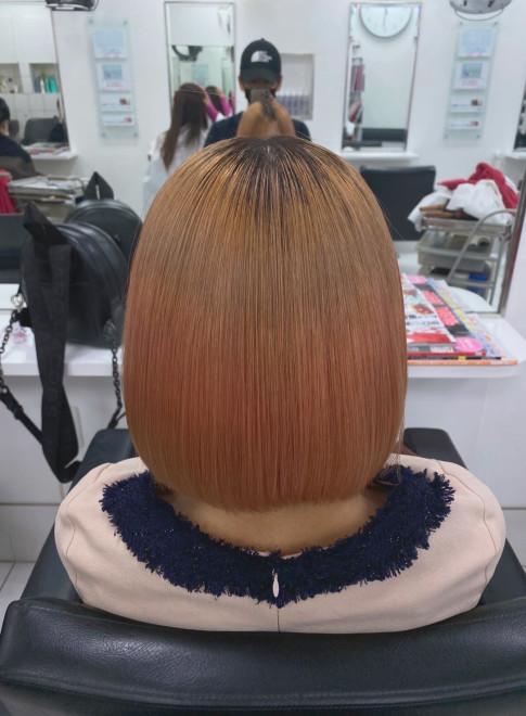 髪質改善・超音波縮毛矯正(ブリーチ毛)(ビューティーナビ)
