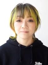 30代ビビットルーツカラーウルフショート(髪型ショートヘア)