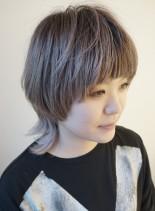 大人のボブウルフスタイル(髪型ミディアム)
