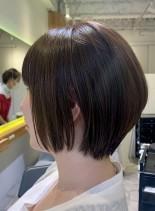 自分でも簡単にまとまる丸みショート(髪型ショートヘア)