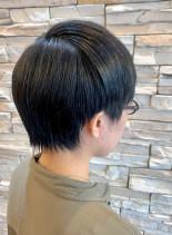 お手入れ簡単 マッシュショート(髪型ショートヘア)
