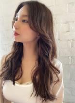 韓国風ウェーブ☆ナチュラルブラウン(髪型ロング)