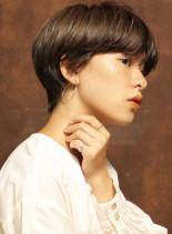 大人ヌーディーショート(髪型ショートヘア)