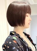 ミニボブ ピンクアッシュ(髪型ボブ)