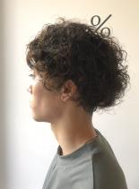 リッジ強めのメンズスパイラルパーマ(髪型メンズ)