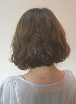 あごラインのボブパーマスタイル(髪型ボブ)