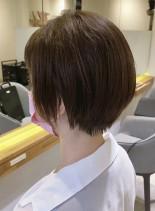 お手入れ簡単丸みショート(髪型ショートヘア)