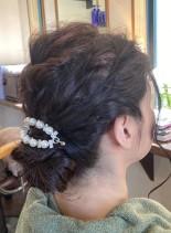 結婚式やお呼ばれに♪大人シニヨンアレンジ(髪型ロング)