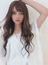 大きめカールのコテ巻き風パーマ☆ベージュ(髪型ロング)