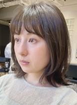 ミディアムレイヤー☆結べる外ハネ(髪型ミディアム)