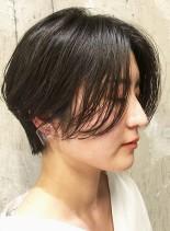乾かすだけで決まるお手入れ簡単ショート(髪型ショートヘア)