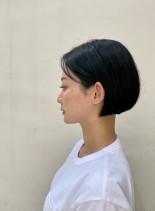 襟足スッキリショートボブ(髪型ショートヘア)