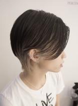 かっこいい大人ポイントカラーショート(髪型ショートヘア)