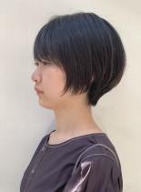 お手入れ簡単☆襟足スッキリショートボブ(髪型ショートヘア)