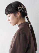 シンプルツインテール(髪型ロング)