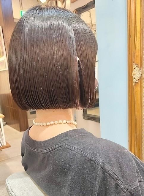 髪質改善トリートメント切りっぱなしボブ(ビューティーナビ)