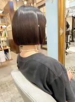 髪質改善トリートメント切りっぱなしボブ(髪型ボブ)