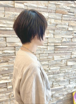 二階堂ふみ風ショートボブ30代40代50(髪型ベリーショート)