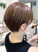 スッキリお手入れ簡単ショートカット(髪型ショートヘア)