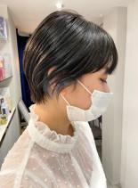 まるみショートにデザインカラー☆(髪型ショートヘア)