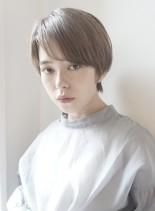前髪長め大人ショートボブストレートボブ(髪型ショートヘア)