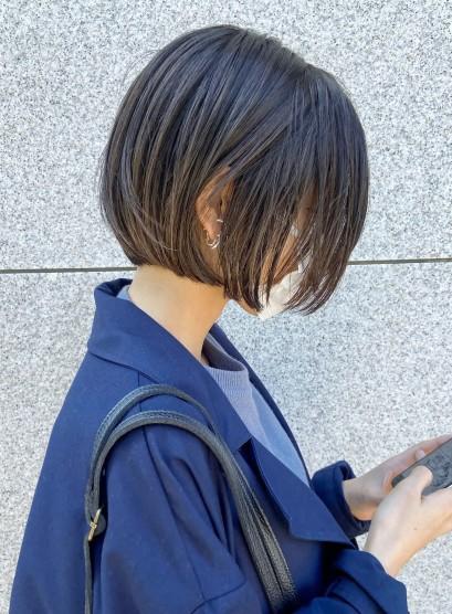 襟足スッキリショートボブ大人ミディアム(髪型ボブ)