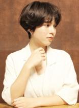 ニュアンスカールショート(髪型ショートヘア)
