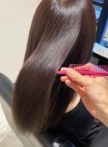 髪質改善酸熱トリートメント(髪型セミロング)