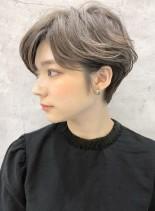 ふんわりハンサムショートハイライト/銀座(髪型ベリーショート)