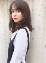 ミディアムレイヤー×ナチュラルパーマ(髪型ミディアム)