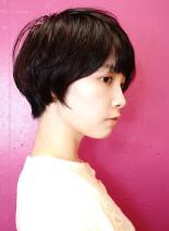 20代30代マッシュショートレイヤー(髪型ベリーショート)