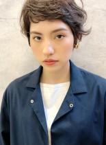 オン眉フレンチショートパーマ/銀座(髪型ベリーショート)