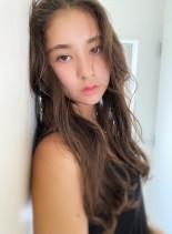 コテ巻き風パーマ☆(髪型セミロング)