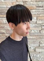 2ブロック 刈り上げ マッシュショート(髪型メンズ)