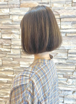 白髪ぼかしハイライトボブ40代50代(髪型ボブ)