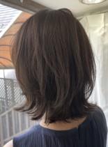 【長め前髪・ミディアムレイヤー】(髪型ミディアム)