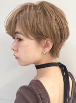 ショートヘア マッシュショート 前髪長め(髪型ショートヘア)
