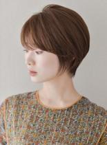 美シルエットショート×バング(髪型ショートヘア)