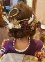成人式・結婚式におすすめ!ヘアアレンジ(髪型セミロング)