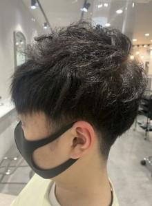 メンズカット+前髪縮毛矯正
