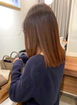 髪質改善で艶髪大人ミディアムヘアー(髪型ミディアム)