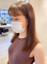 艶髪綺麗めスタイル大人ミディアム(髪型ミディアム)