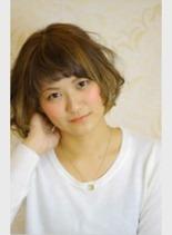 インナーハイライト(髪型ボブ)