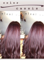 透明感×カシスなカラー(髪型ロング)